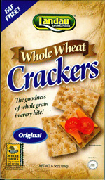 Landau Kosher Whole Wheat Crackers Original 6.5 OZ.