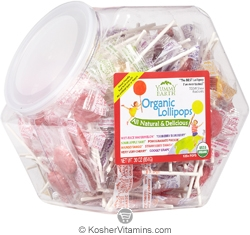 YumEarth Organics Kosher Lollipops Assorted Fruit Counter Bin 30 OZ