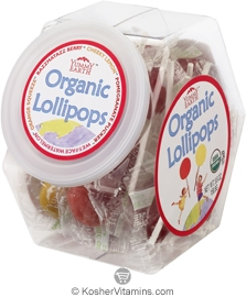 YumEarth Organics Kosher Lollipops Assorted Fruit Personal Bin 5.6 OZ