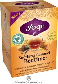 Yogi Tea Kosher Soothing Caramel Bedtime Pack Of 6 16 Tea Bags