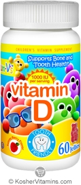 Yum V's Kosher Vitamin D3 1000 IU Chewable Berry Flavor 60 Jellies
