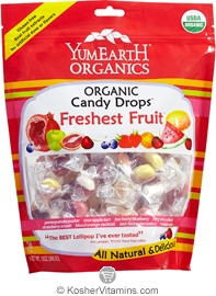 YumEarth Organics Kosher Candy Drops Freshest Fruit Assorted 6 Pack 3.3 OZ