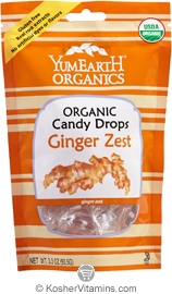 YumEarth Organics Kosher Candy Drops Ginger Zest 6 Pack 3.3 OZ