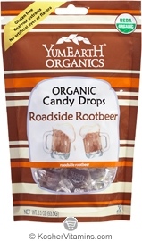 YumEarth Organics Kosher Candy Drops Roadside Root Beer 6 Pack 3.3 OZ