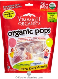 YumEarth Organics Kosher Lollipops Assorted Fruit 12.3 OZ