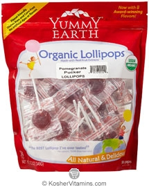 YumEarth Organics Kosher Lollipops Pomegranate Pucker 12.3 OZ