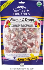 YumEarth Organics Kosher Candy Drops Vitamin C Anti-OxiFruits 3.3 OZ
