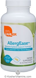 Zahlers Kosher AllergEase 90 Vegetable Capsules