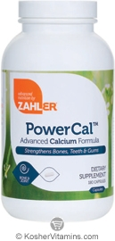 Zahlers Kosher Power Cal Advanced Calcium Formula  180 Capsules
