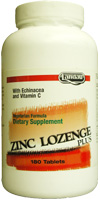 Landau Kosher Zinc Lozenges Plus with Echinacea and Vitamin C 90 CHW