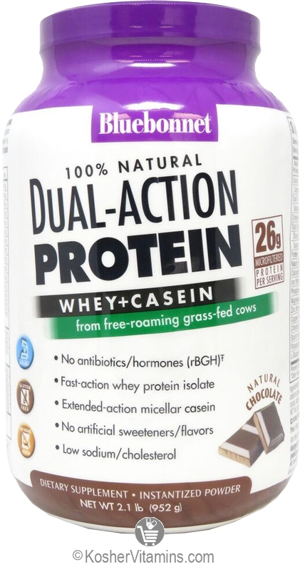Bluebonnet Kosher 100 Natural Dual Action Protein Whey