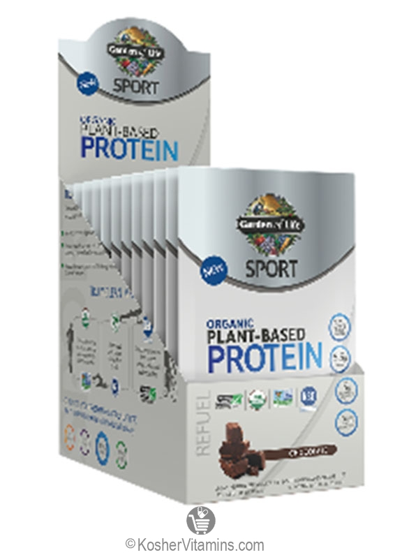 Garden Of Life Kosher Sport Organic Plant Based Protein Chocolate 12 Pckets