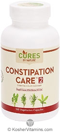 Cures by nature kosher constipation care 2 essential colon for Fish oil constipation