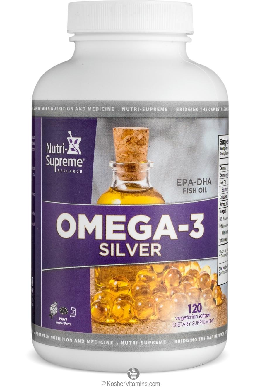 Nutri supreme research kosher omega 3 silver fish oil epa for Kosher fish oil
