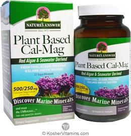 Plant based calcium supplement