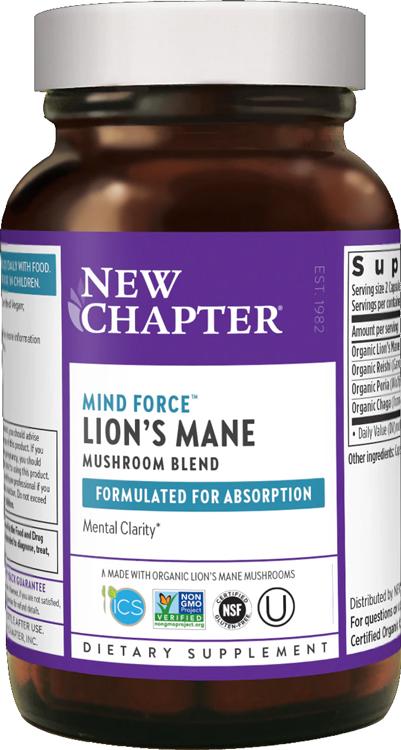 new chapter kosher mind force lion's mane mushroom blend